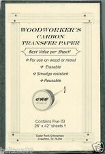 """NEW Woodcraft Patterns Carbon Transfer Tracing Paper 5 Sheets - 26""""x42"""""""