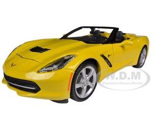 2014 CHEVROLET CORVETTE C7 CONVERTIBLE YELLOW 1/24 MODEL CAR BY MAISTO 31501