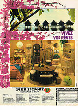 PUBLICITE ADVERTISING 024   1980   PIER IMPORT   meubles exotiques