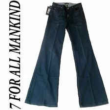 "7 SEVEN FOR ALL MANKIND ""Ginger"" Azul Oscuro Schlag Vaqueros 26/34"