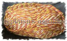 9 PELOTES de laine GIBOULEES ROUX NEUVES