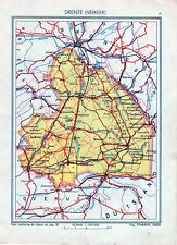 Antique map Drenthe  traffic verkeer Netherlands 1936
