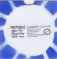 (FJ242) Mat Motte & The People That Hate Him, Summer Song - DJ CD