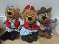 RARE* Butlins Bonnie Billy Cowboy Bear Plush Soft Toy Vintage Retro Teddy Bundle