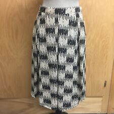 LuLaRoe Madison Skirt Medium Piano Key Print Black Beige Pockets NWT New (A224)