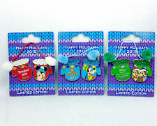 Disney Pin DLR Happy Holiday 2015 HOTEL MITTENS Set Mickey Goofy Chip Dale LE