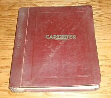 1948 1949 Carter Carbureter Parts & Service Manual Chevrolet Buick Dodge Pontiac