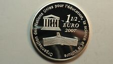 1/2 euro ARGENT 22,2 gr ONU Muraille CHINE 2007 FDC