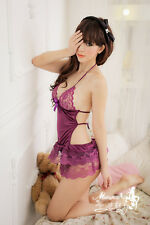 Lady Women Sexy Lace Lingerie Babydoll Sleepwear Underwear G-string Nightwear