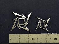 Marilyn Manson Collier En Acier Inoxydable Double Pendentif Croix Merch logo symbole