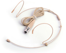 Dual Hook Headset Microphone For Shure Wireless Body Packs 4 Pin Mini XLR (TA4)