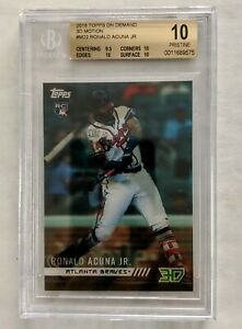 2018 Topps On Demand 3D Ronald Acuna Jr. RC BGS 10 .5 from Black Label Braves