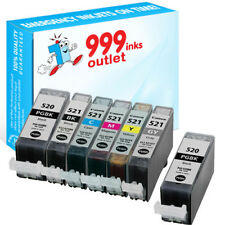 PGI-520 CLI-521 Compatible ink Canon iP4600 iP4700 MP540 MP550 MP560 - 7 Pack