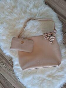 Tory Burch Shoulder Bag & Wallet Set Light Pink