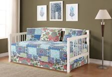 Fancy Linen 5pc Day Bed Cover Floral Blue Teal Green Reversible New