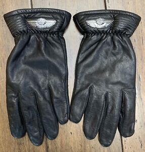 Harley Davidson 100th Anniversary Gauntlet Leather Gloves SIZE XLARGE Men's