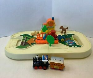 TOMY Tote-Along-Train Toddler Fold-n-Go Playset Toy Vintage