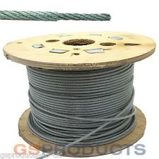 100 Meters of 1.5-2.5mm CLEAR PVC Covered Steel Wire Rope Cable 7x7 FREE POSTAGE
