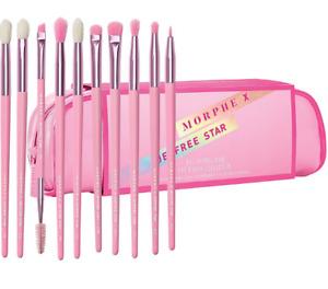 Authentic Morphe x JEFFREE STAR Brush Set 10 Piece Eyeshadow & Bag Pink