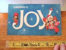 Vintage hallmark charmers Used Christmas Card carolers Joy maria? 1970s blue