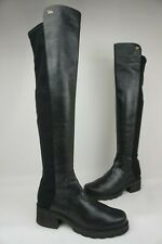 Stuart Weitzman 5050 Over the Knee Stretch Boots Alina Nappa Leather Size 9