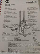Ersatzteilbuch BT Elektro Deichselstapler LSF1250/11 ab Ser,.Nr 268826AA -