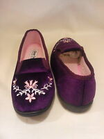 LADIES MOCCASINS FLORAL PRINT FUR WOMENS SLIPPERS COMFORT SHOES SZ UK 3-8