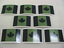 8 OD CANADA FLAG Sticker Decal LOT 4 Window Truck suv Wholesale Military Camo