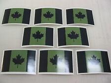 8 OD CANADA FLAG Sticker Decal LOT 4 Window Truck suv Wholesale Military Camo