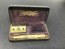 Vintage Gillette Gold Old Type Open Comb Safety Razor W/ Box Free Shipping