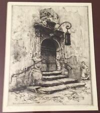 Highly Listed Canadian Artist FRANK ARMINGTON Fine Etching, Portal in Rothenburg