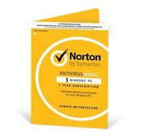 Norton Antivirus Basic 1.0 Internet Security (1 User, 1 Year)