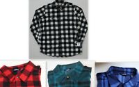 CHAPS BIG & TALL MEN'S PLAID FLEECE SHIRT JACKET with POCKETS LUMBERJACK CHOICE