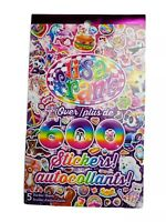 Lisa Frank Peace Kiss Kittens Puppies Unicorn Sparkle 600+ pc. Sticker Book