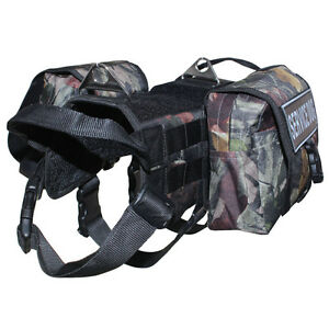 TRAINING Dog Vest Service Dog Harness Removable Pockets Side Bags & Patches