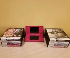 Nintendo DSi Hot Pink Bundle 8 Games including Super Mario Bros And More