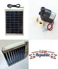 Solar Water Heater ProPack kit 20 W 12 V Green Photovoltaic DIY