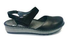 Naot Lantana Women Mary Jane Leather Shoes Sandals Slip On Slides Black New Flat