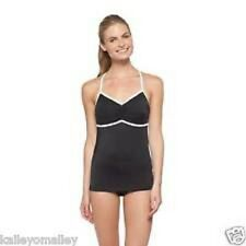 C9 Champion Tankini Swim Top Racerback Bathing Suit - Size XS - Black/White
