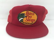 Old Bass Pro Shop VintageRed Mesh Trucker Hat Fishing Shops Made In USA SnapBack