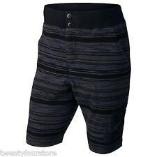 NWT $70 Mens Nike FC Squad Knit Cotton Shorts Black & Grays sz S - 744421