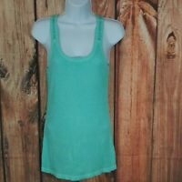 Mossimo Womens Mint Green Ribbed Tank Top Size Large