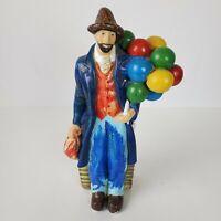 Vintage Bearded Man Balloon Seller Figurine Chalkware 10 Inch Tall