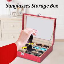 8 Grids Leather Sunglasses Glasses Eyewear Display Storage Case Box Holder  !!!