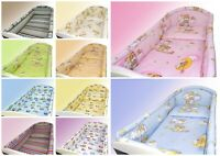 BABY BEDDING SET 2 3 5 6  ALLROUND BUMPER PILLOW DUVET COVER Fit COTBED 140x70