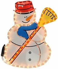 GRANDE Pupazzo Di Neve Decorazione Di Natale Luci per giardino all'aperto Multi Colorato Nuovo