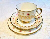 Pink Rose   Tea cup saucer set Trio  - Roslyn  Vintage afternoon tea china
