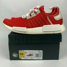 NEW Adidas NMD R1 Red White BD7897 Boost Sneaker Mens Size 10.5 Athletic Running