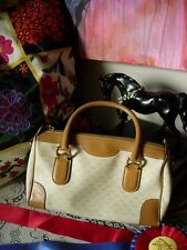 Vintage GUCCI Micro GG Speedy Satchel Boston Bag Purse Handbag Tote Keepall GG