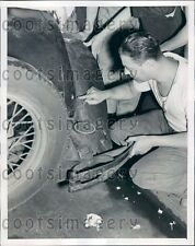 1939 Bullet Hole in Car Payroll Holdup New York City Press Photo